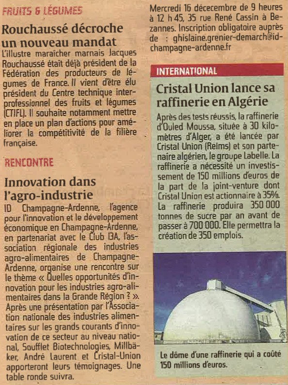 Rencontre Innovation L'UNION ECONOMIE 15 12 2015